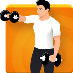 fitness home & gym workouts logo